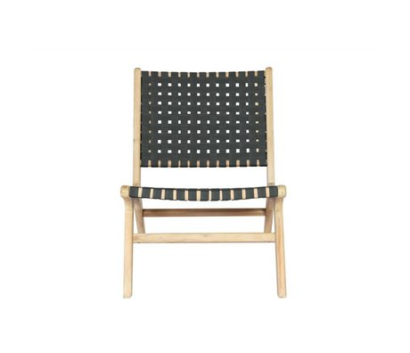 vtwonen Chair Frame anthracite gray wood 78x59x71cm