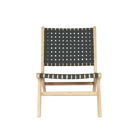 vtwonen Tuinstoel Frame antraciet grijs hout 78x59x71cm