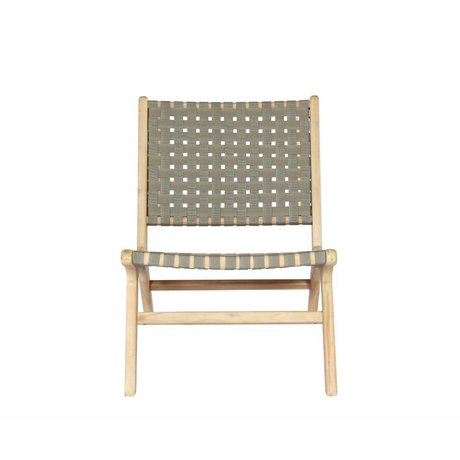 vtwonen Garden chair Frame olive green wood 78x59x71cm