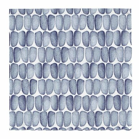 Housedoctor Napkins with blue print white paper 33x33cm