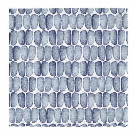 Housedoctor Servietten mit blauem Aufdruck weißen Papier 33x33cm