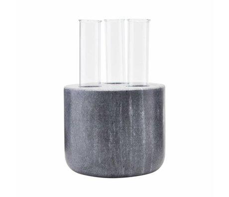 Housedoctor Vaas The tube zwart marble glas 12¯