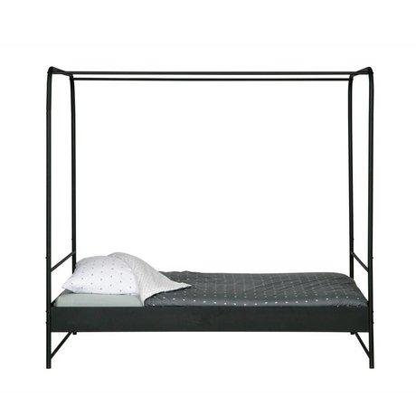 Himmelbett Bunk schwarz Metall 190x206x125cm