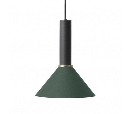 Ferm Living Cone Hängelampe hoch dunkelgrün schwarz Metall