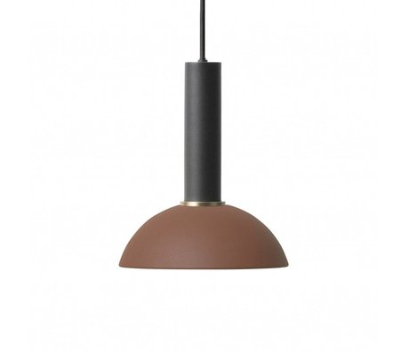 Ferm Living Hanging lamp Hope high red brown black metal