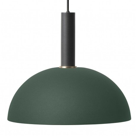 Ferm Living Dome light dome dark green black metal