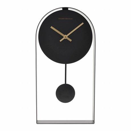 Housedoctor Clock Art black steel 19x5,5x39,5cm