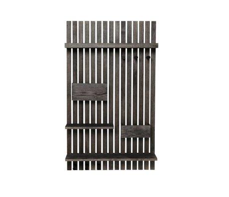 Ferm Living Regaleinheit Multi schwarzes Holz 59x12,5x99,7cm