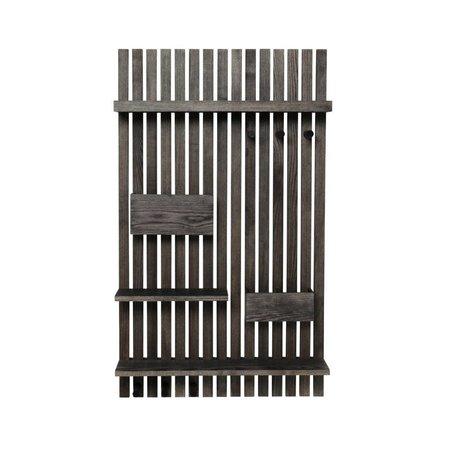 Ferm Living Wall rack Multi black wood 59x12,5x99,7cm