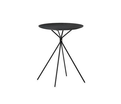 Ferm Living Side table Herman black metal wood Ø45x57cm