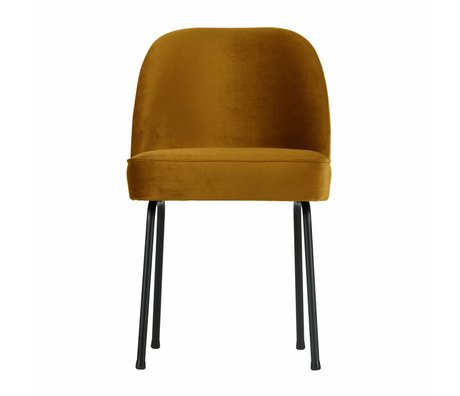 BePureHome Eetkamerstoel Vogue moster geel fluweel 82,5x50x57cm