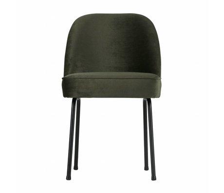 BePureHome Esszimmerstuhl Vogue Onyx grau grün Samt 82,5x50x57cm