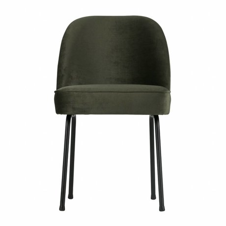 BePureHome Dining chair Vogue onyx gray green velvet 82,5x50x57cm