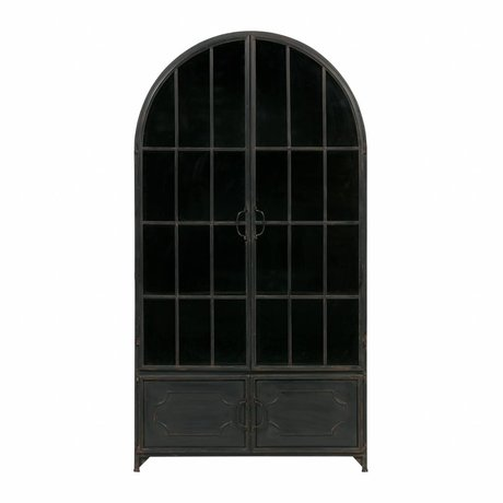BePureHome Case Arcade black metal 172,5x91,5x37cm