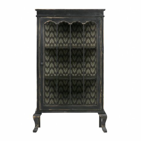 BePureHome Display cabinet Odd black wood 114,5x67,5x39,5cm