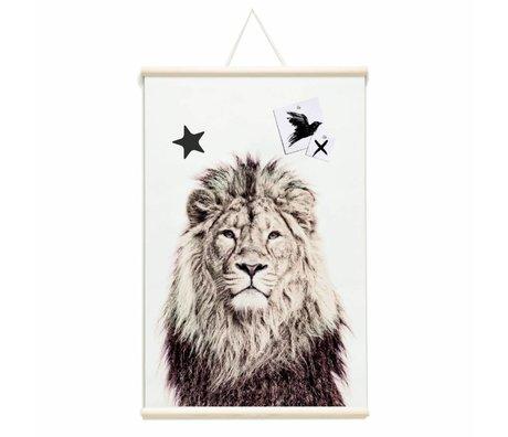 Groovy Magnets Magnet affiche lion vinyle avec particules de fer 62x95cm