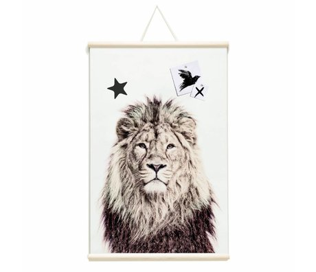 Groovy Magnets Magnet poster lion vinyl with iron particles 62x95cm