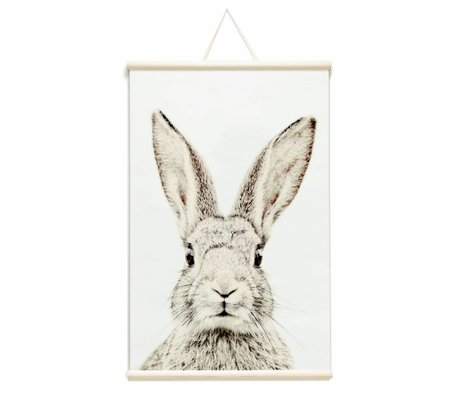 Groovy Magnets Magnetic poster rabbit vinyl with iron particles 62x95cm