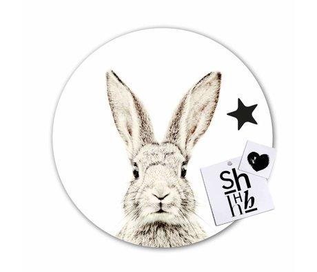 Groovy Magnets Magneetsticker konijn zelfklevend vinyl met ijzerdeeltjes ø60cm