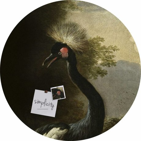 Groovy Magnets Magnet sticker majestic crane self-adhesive vinyl with iron particles ø60cm