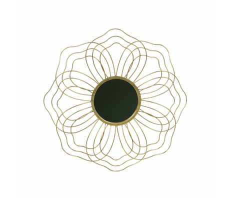 BePureHome Mirror Handsome M antique brass gold metal 3,5x50x50cm