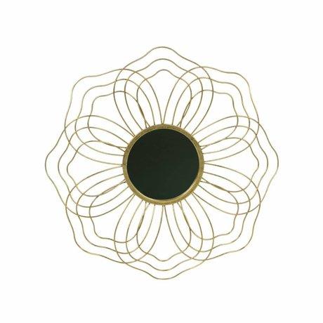 BePureHome Spiegel Handsome M antiek brass goud metaal 3,5x50x50cm