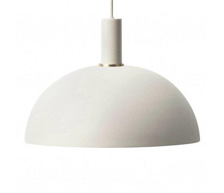 Ferm Living Hanglamp Dome low licht grijs metaal