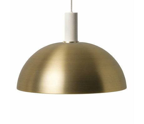 Ferm Living Dome light Dome low brass gold light gray metal