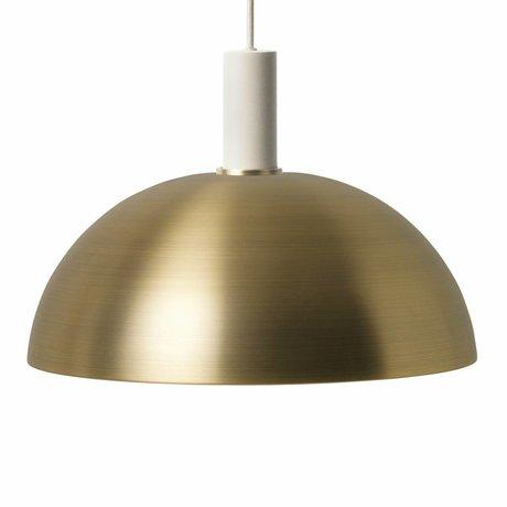 Ferm Living Hanglamp Dome low brass goud licht grijs metaal