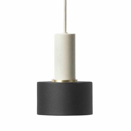 Ferm Living Hanglamp Disc low zwart licht grijs metaal