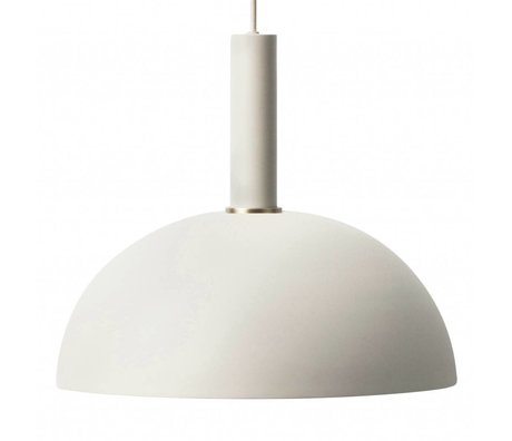Ferm Living Hanglamp Dome high licht grijs metaal