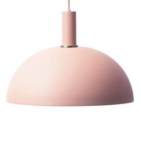 Ferm Living Pendelleuchte Dome niedriges rosa Metall