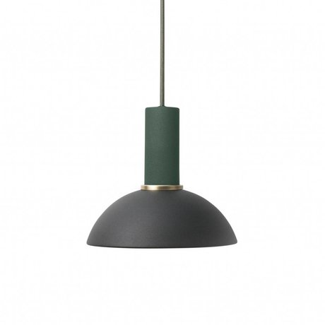 Ferm Living Pendant light Hoop low black dark green metal