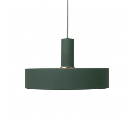 Ferm Living Hanging lamp Record low dark green metal