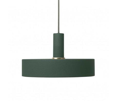Ferm Living Hanglamp Record low donker groen metaal