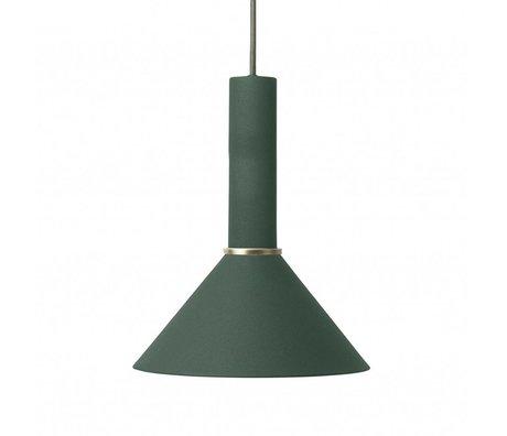 Ferm Living Hanglamp Cone high donker groen metaal