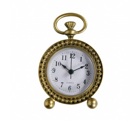 BePureHome Clock Moment Messing Antik Gold Metall 11,5x8x3cm