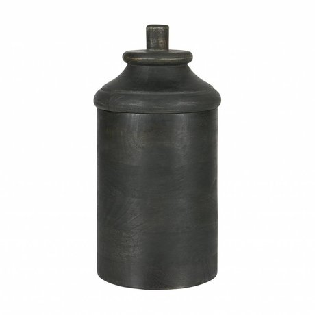 BePureHome Pot Dropped L grijs hout 30x15,5x15,5cm