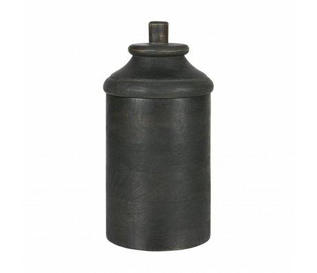 BePureHome Pot Dropped M grijs hout 27x15x15cm