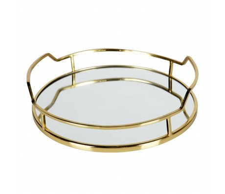 BePureHome Tray Luxuriöse Gold Metall 8x34x33cm