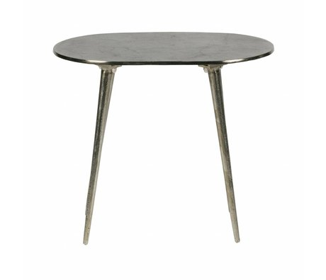 BePureHome Side table Bright burished gold metal 37,5x44x30,5cm
