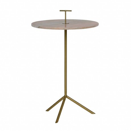 BePureHome Side table Paddle pink metal marble 72x43,5x43,5cm