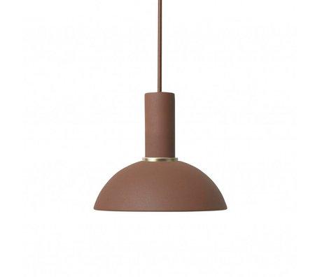 Ferm Living Hanglamp Hoop low rood bruin metaal