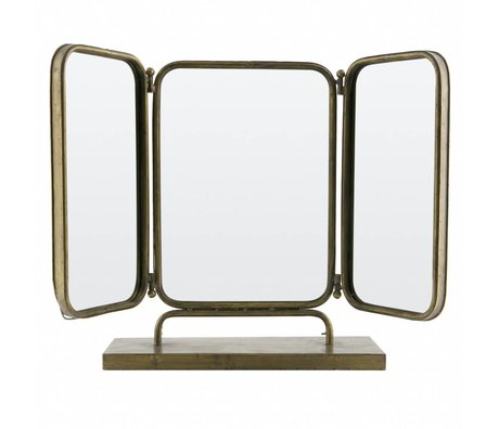 BePureHome Spiegel Anonymous antiek brass goud metaal 49,5x72,5x15cm