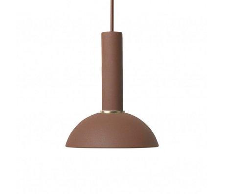Ferm Living Hanging lamp Hope high red brown metal