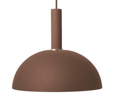 Ferm Living Hängeleuchte Dome hohe rotbraunes Metall