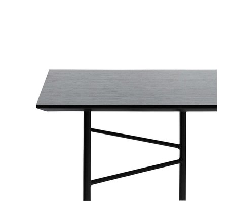 Ferm Living Mingle tafelblad zwart veneer 210x90x2cm