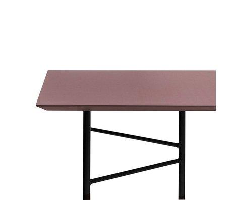 Ferm Living Mischen Sie sich Tisch weinrot Linoleum 210x90x2cm