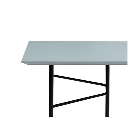 Ferm Living Mingle tafelblad dusty blauw linoleum 210x90x2cm
