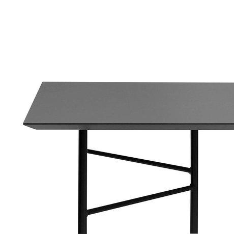 Ferm Living Mingle tafelblad charcoal zwart linoleum 210x90x2cm